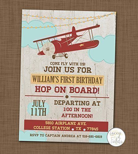 Items Similar To Airplane Birthday Invitation: Airplane Birthday Invitation Set Of 10 Airplane Themed