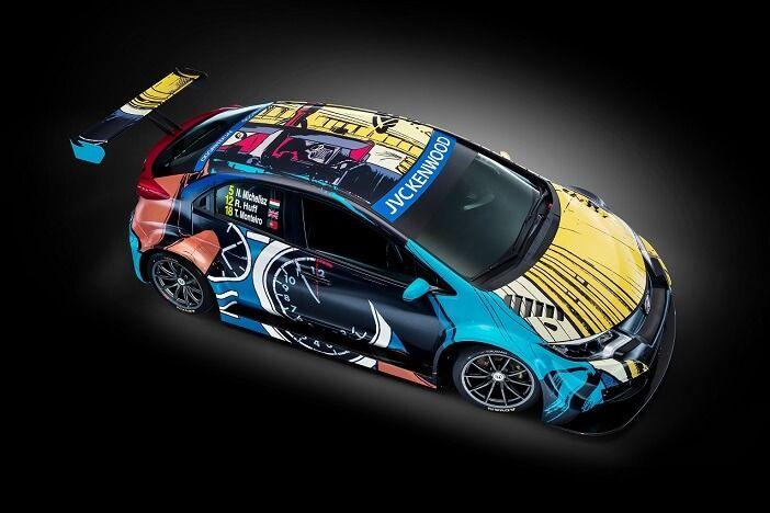 La marca nipona y la Fundación Jean Graton han trabajado juntos para dar una nueva apariencia al Honda Civic WTCC en Goodwood.