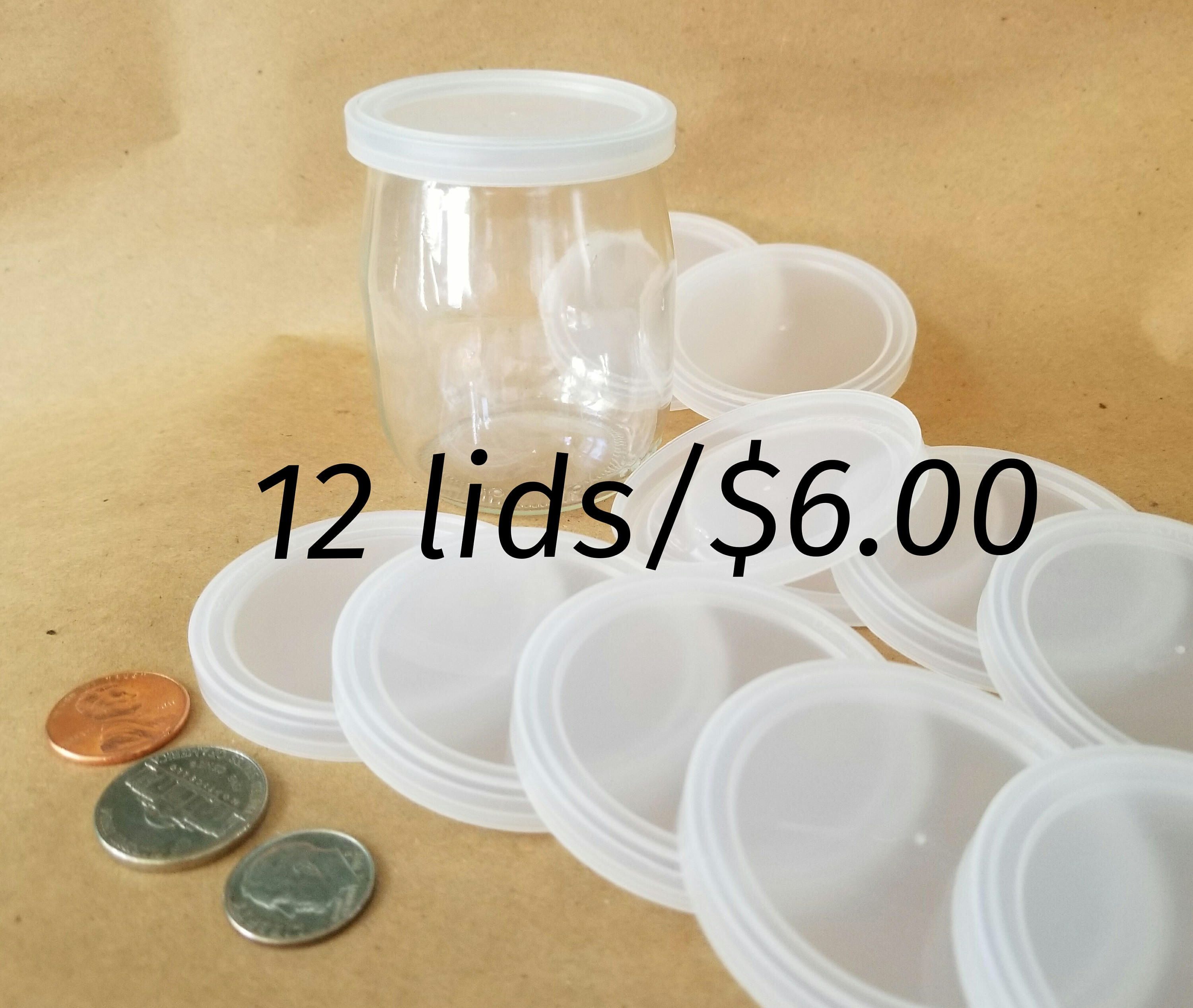Lid And Jar Yogurt Jar Lids Twelve Small Plastic Lids For Glass Yogurt