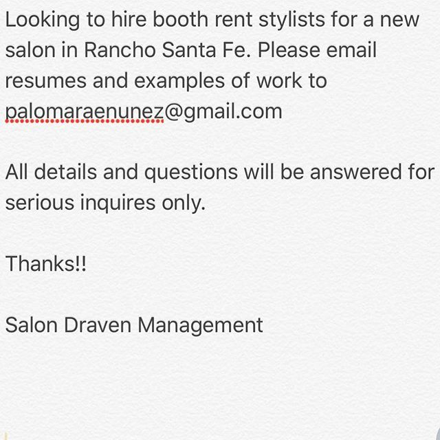 salondraven #hairsalon #booth #boothrent #hair #hairstylist - sample resume hair stylist