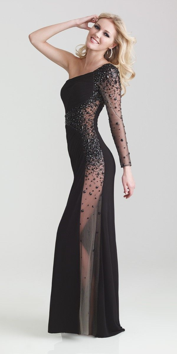 Night Moves One Shoulder Dress