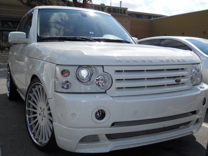 All White Custom Range Rover. Hmmm...maybe?