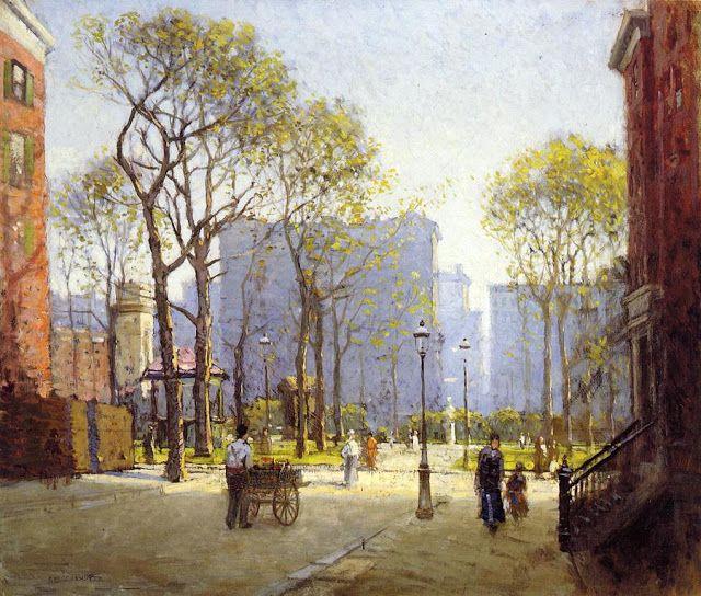 ART & ARTISTS: Paul Cornoyer - part 1-madison square