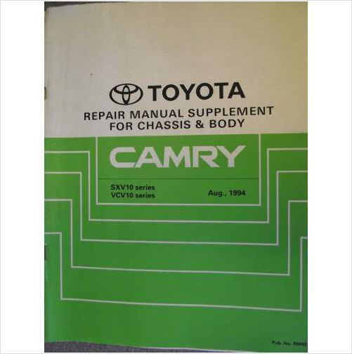 Toyota Camry Chassis  U0026 Body Repair Manual Supplement 1994