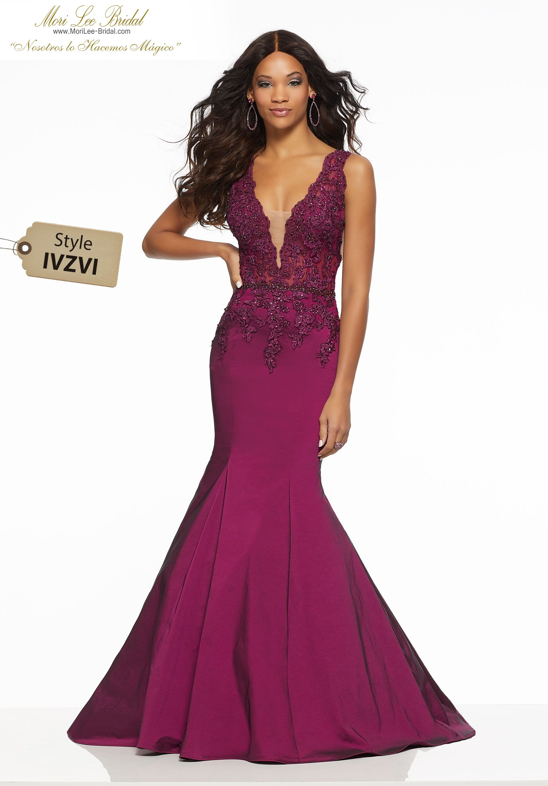 d56b42813b7 Beaded Lace Appliqués and Waistband on Stretch Taffeta Fitted Stretch  Taffeta Mermaid