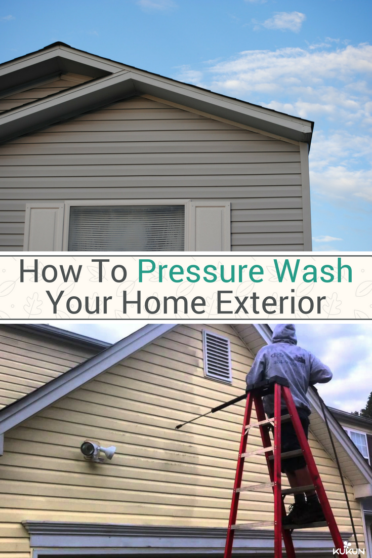 How To Pressure Wash A House Before The Painting Process House Exterior House Paint Exterior House Cladding