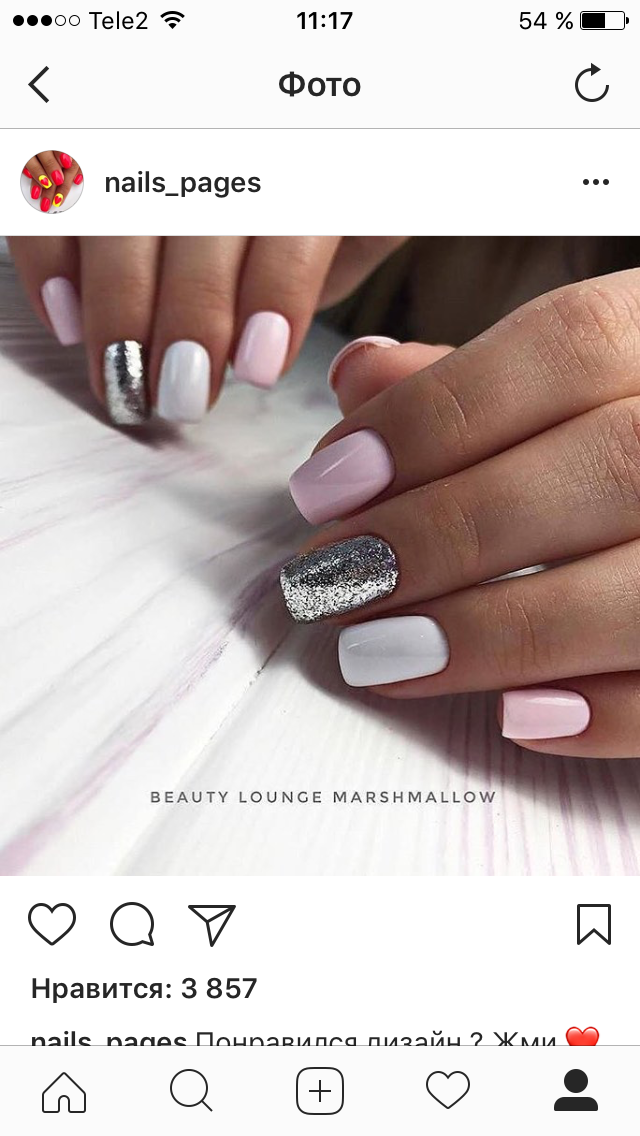 Pin by irina13 on pinterest manicure makeup and nail nail silver white and pink feminine nails prinsesfo Choice Image