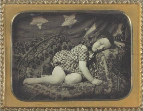 "ca. 1850, ""Albert Pritchard Root Asleep by the Flag"", Marcus Aurelius Root"