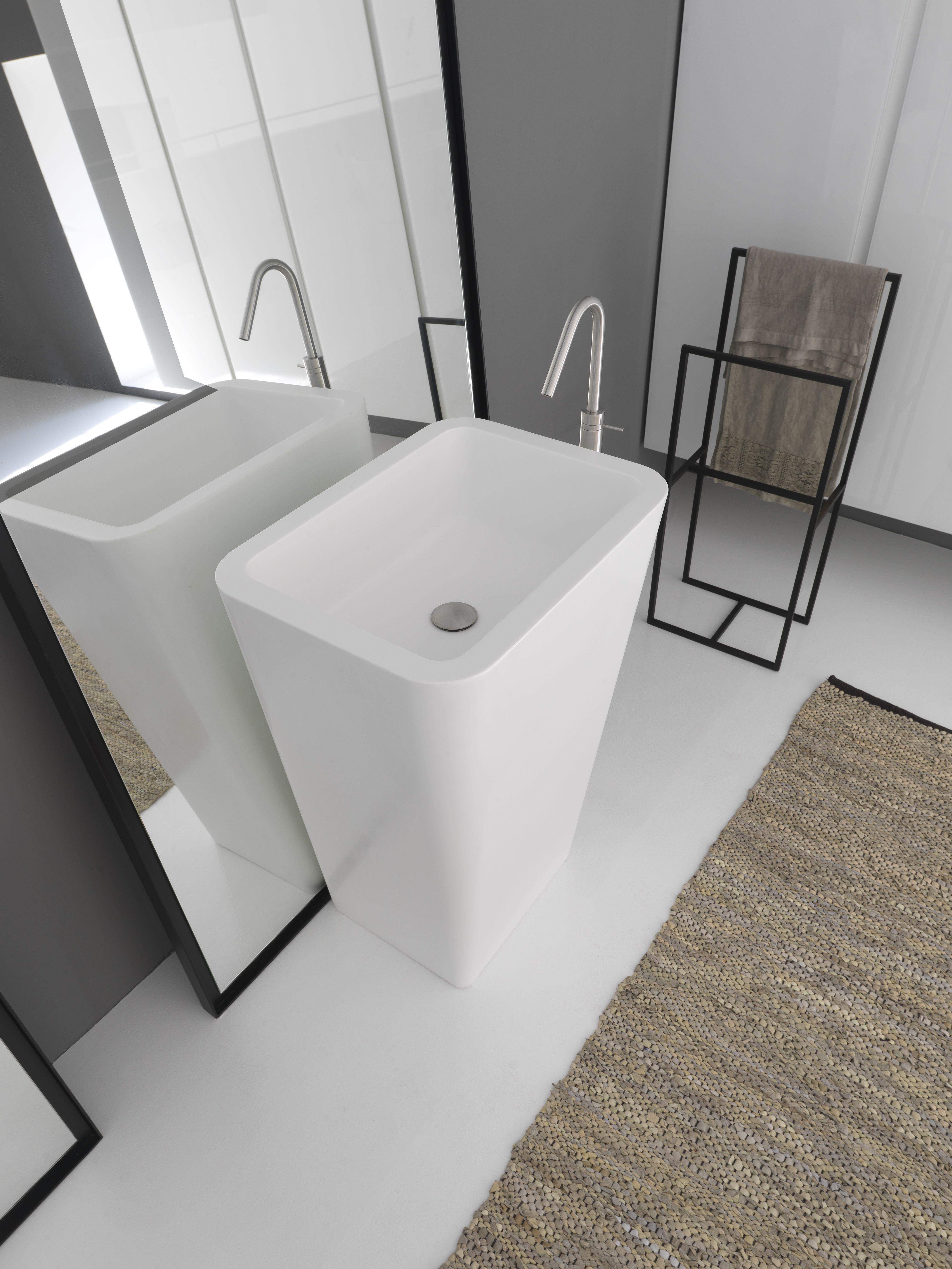 Free standing washbasin in tecnoril from Modulnova Bagni ...