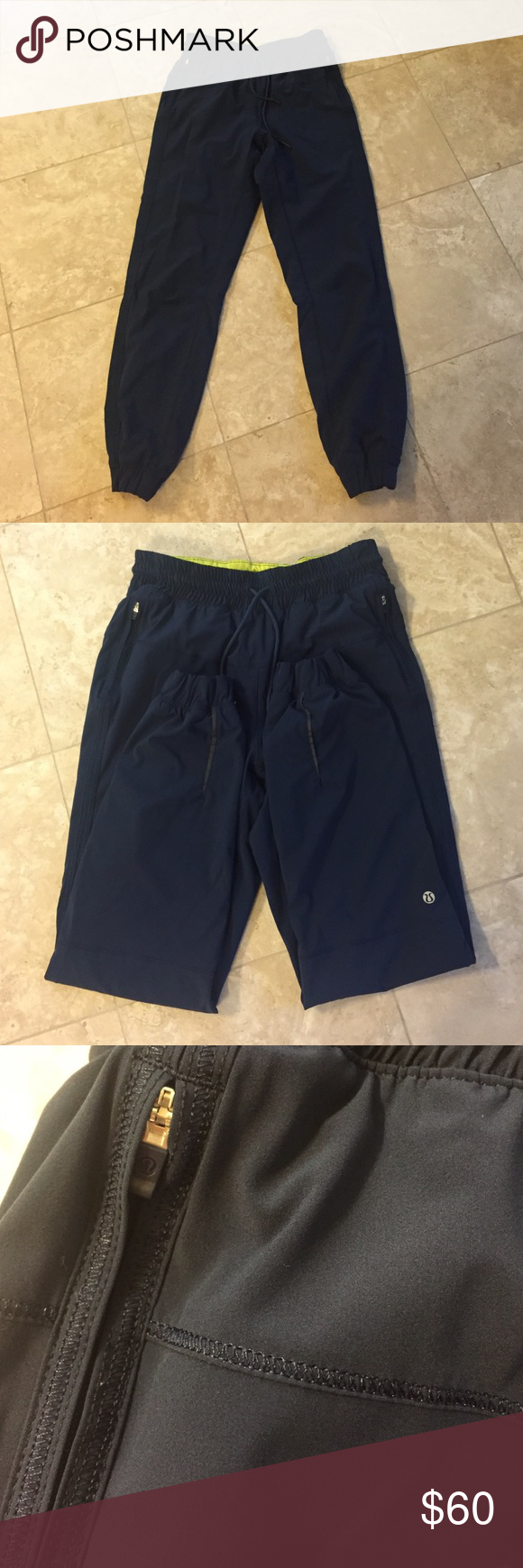 Lululemon pants 4 Lululemon pants 4. Great condition. They are navy blue ( sorry camera didn't cooperate with me) lululemon athletica Pants Track Pants & Joggers