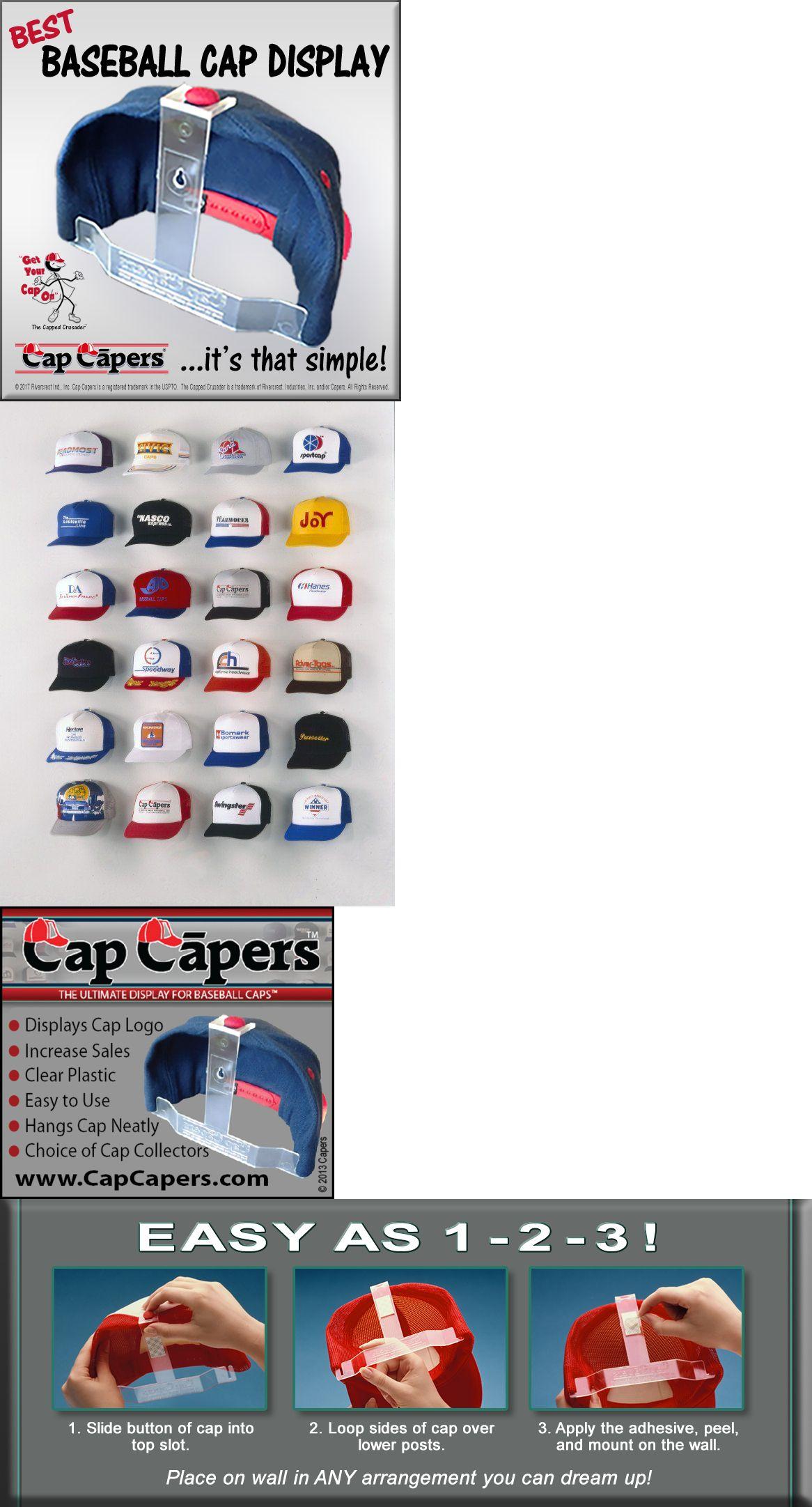 10 Cap Rack Baseball Hats Visors Door Hanger Holder Hook Storage Organizer US