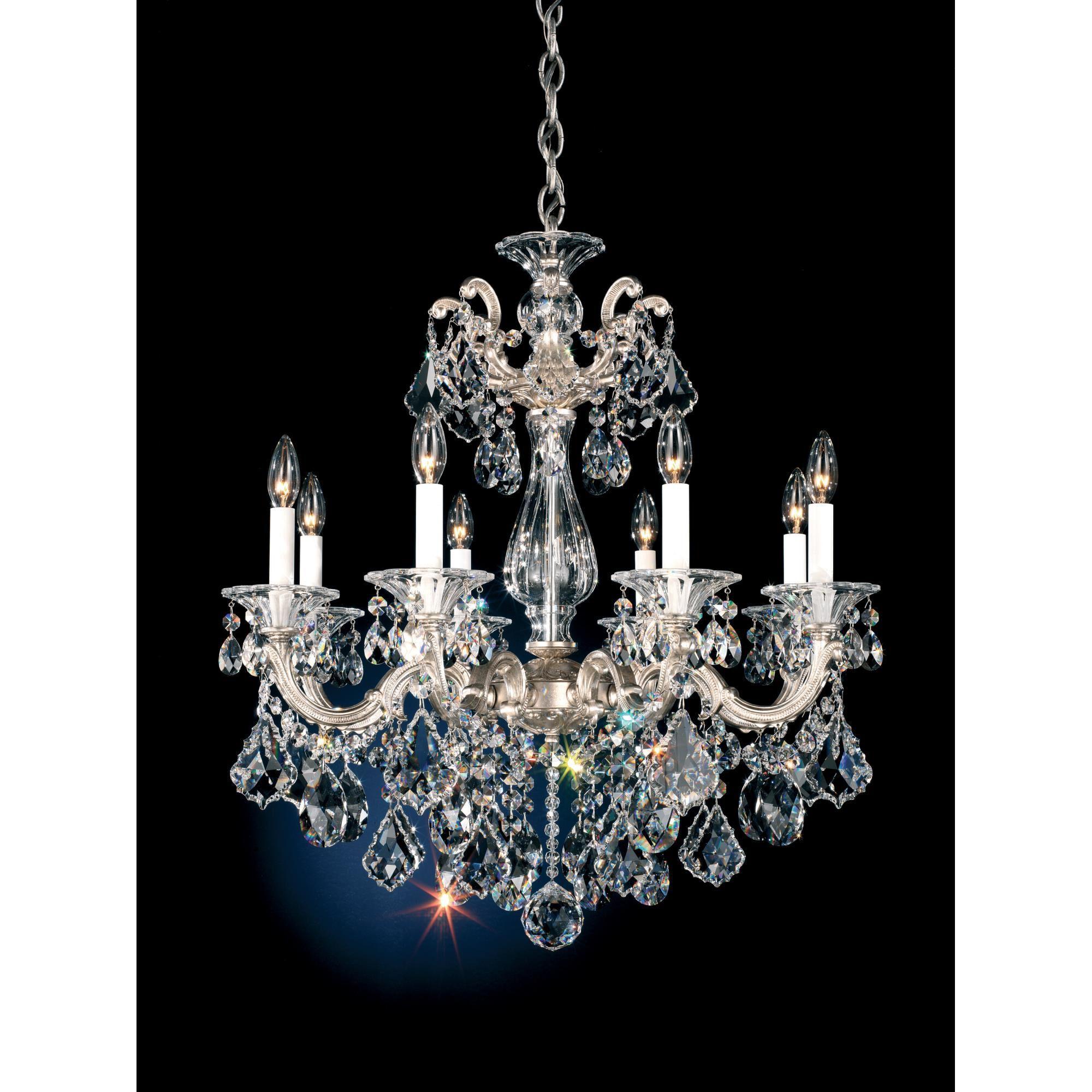 La Scala 25 Inch 8 Light Chandelier Capitol Lighting Crystal Chandelier Chandelier Lighting Candle Style Chandelier