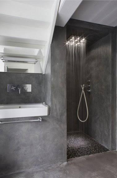 Idees Deco Pour Une Salle De Bain Grise Salle De Bain En Beton Salle De Bain Grise Salle De Bain Design