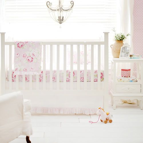 Floral Nursery Bedding Inspiration Floral Baby Bedding  Pink Desert Rose Crib Collection  Baby Decorating Design