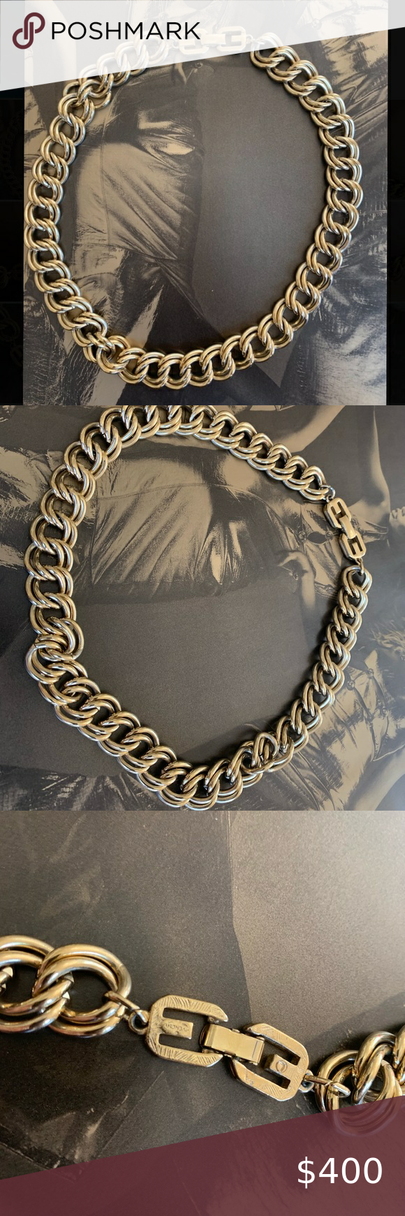 Vintage Givenchy Gold Chain Necklace In 2020 Vintage Givenchy Gold Chain Necklace Chain Necklace