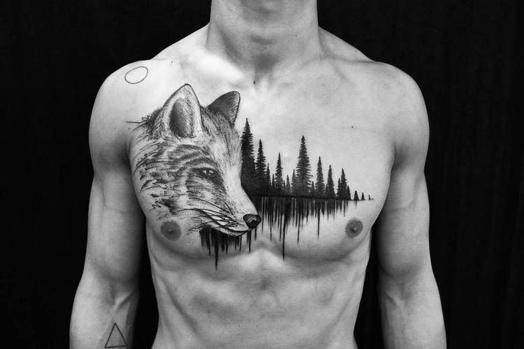 40 Creative Forest Tattoo Designs And Ideas Forest Tattoos Tattoos Wing Tattoos On Back