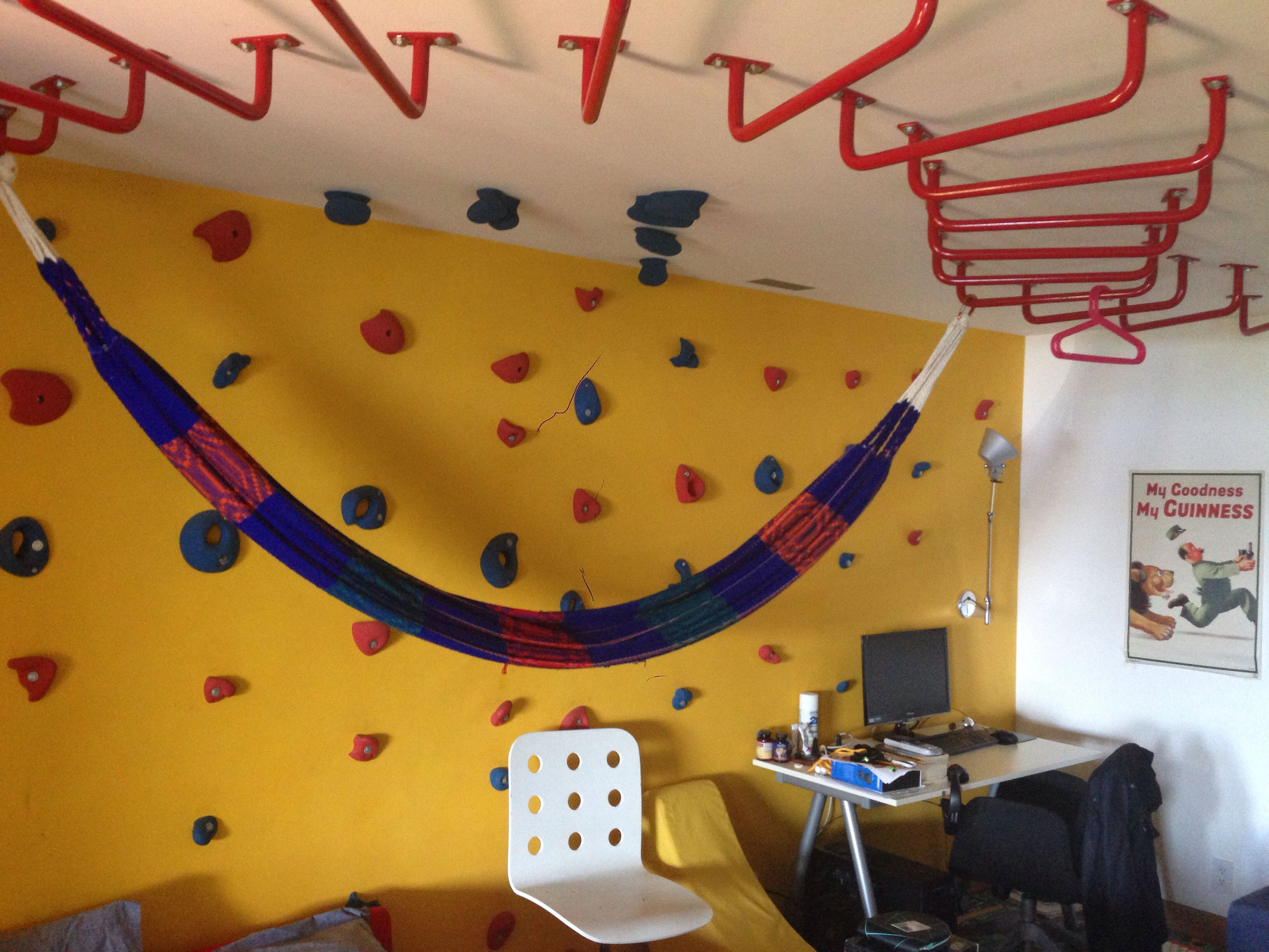 Kids Bedroom Hammock so my friend has monkey bars and a hammock in his room | monkey