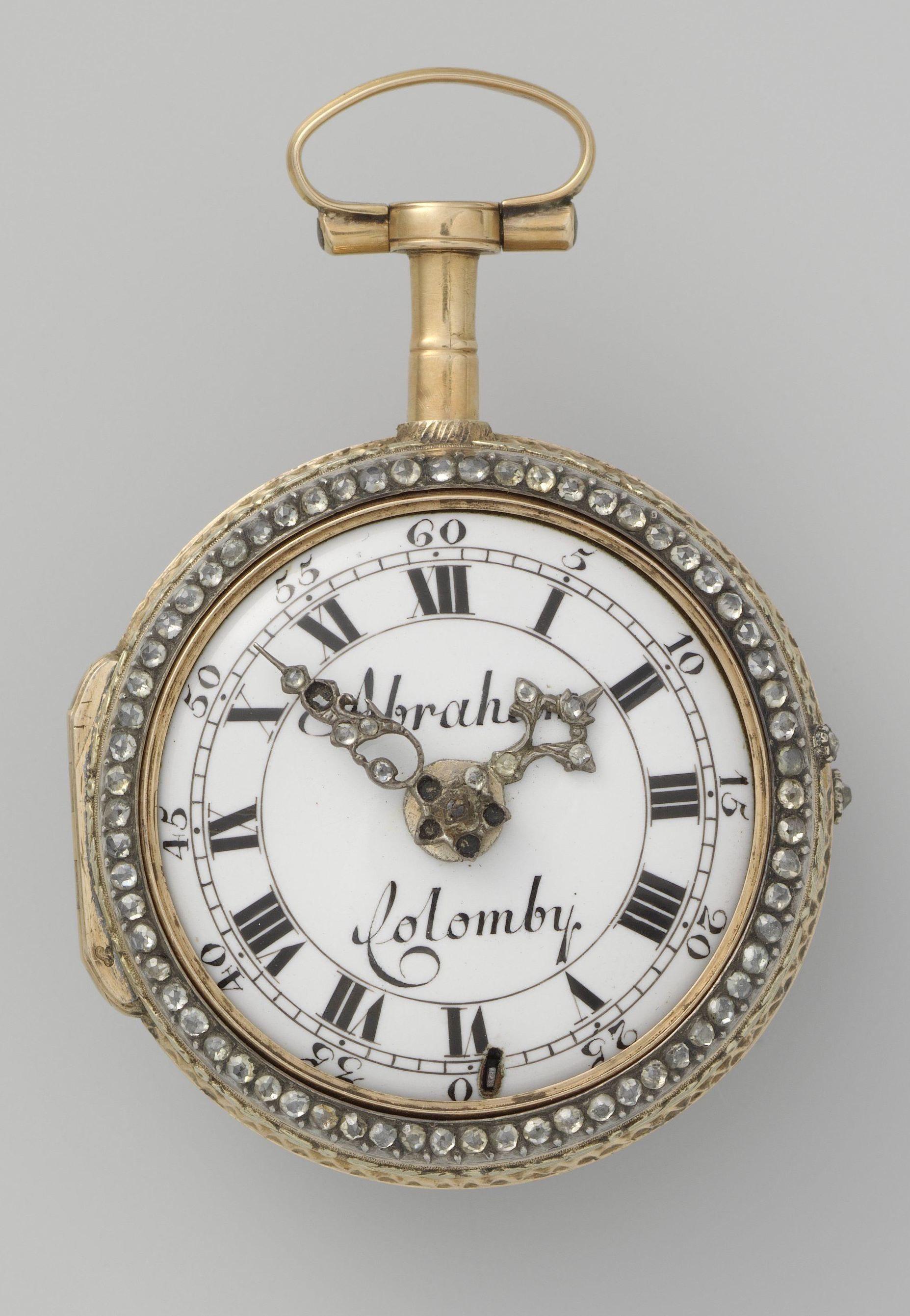 Rijksmuseum Gold Silver Diamond And Enamel Watch Abraham Colomby Switzerland C1750 60