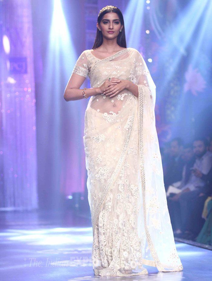 White Lace Wedding Saree