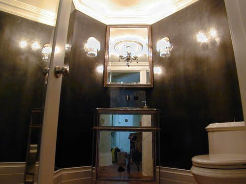 high gloss paint in bathroom