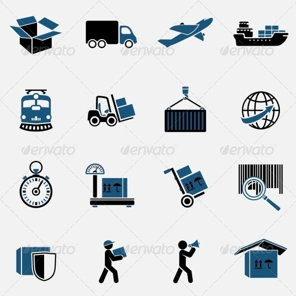 Logistic Icons Set Icon Set Business Icons Vector Business Icon