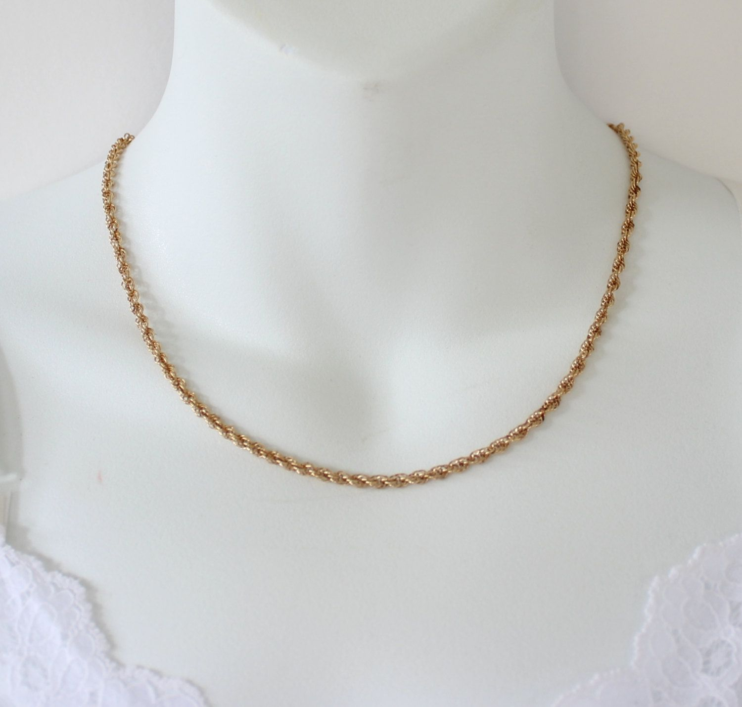 Vintage 1984 Signed Avon 14K Gold Filled 120 14KT GF Chain Princess