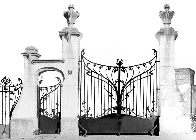 Art nouveau decorative ironwork art nouveau strasbourg 76 all e de la robertsau for Portail fer forge art deco