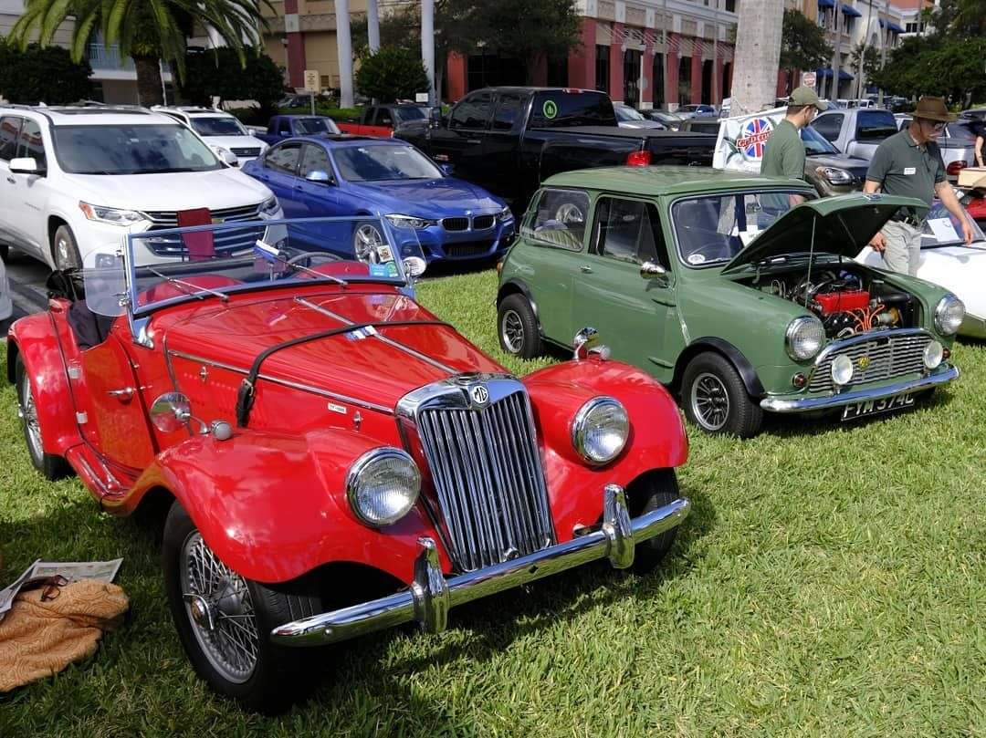 Classic British Cars On Display At Last Weekend S Supercar Sunday In Wpb Classiccars Carshow British Cars Super Cars Classic Cars