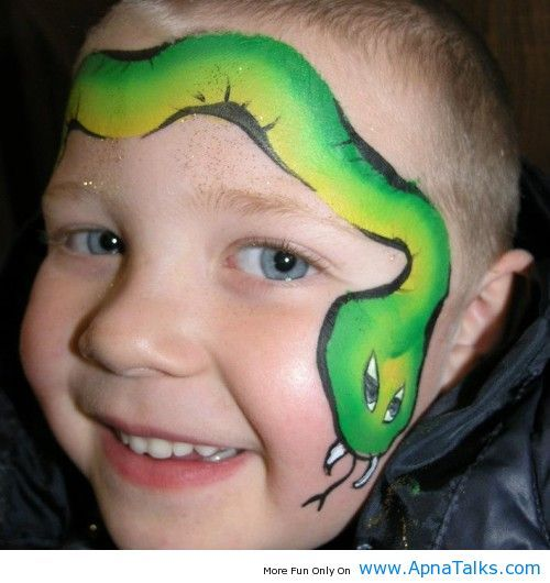 Stacey Kurtz Art For Mural In Boys: Snake Face Painting Design For Boys Face Painting Ideas