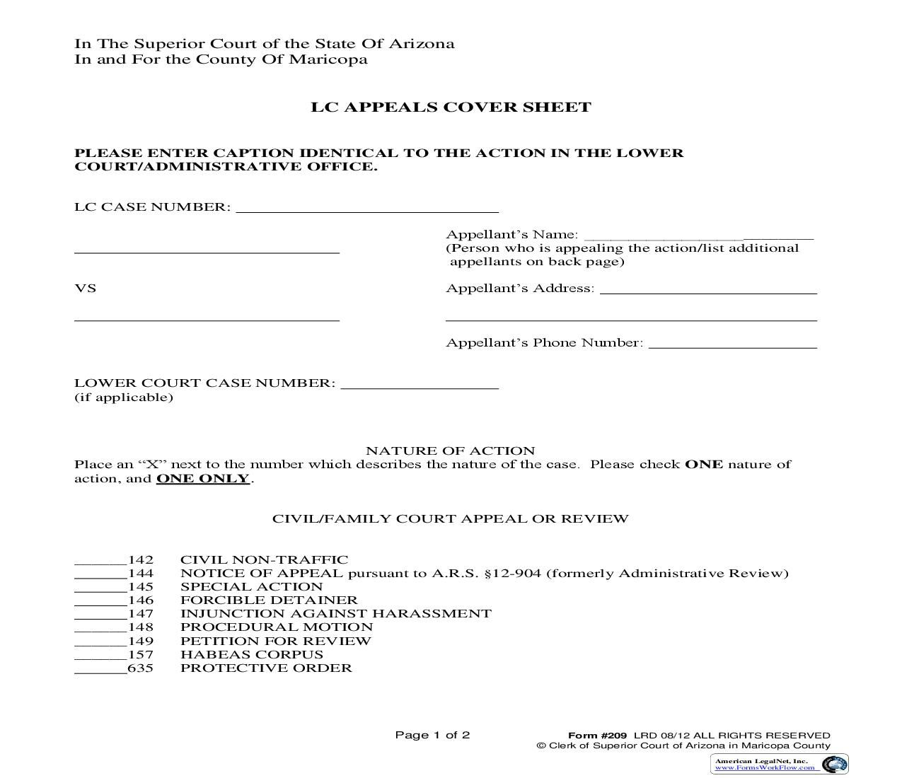 This is a Arizona form that can be used for Court Of