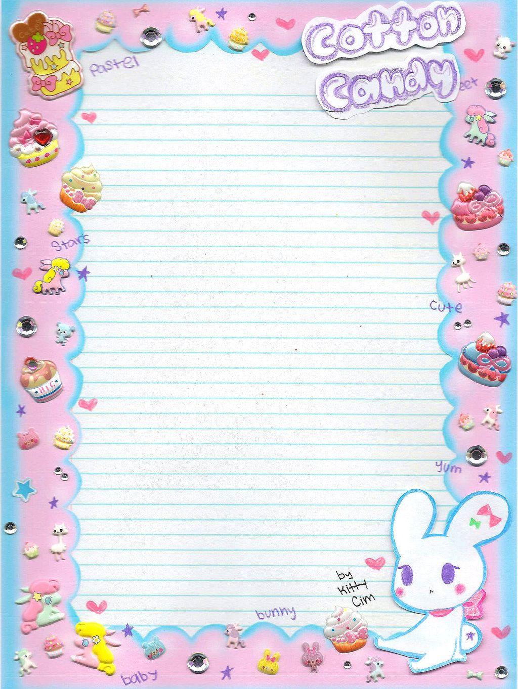Cotton Candy notebook paper by TheUndertakersKittydeviantart – Notebook Paper