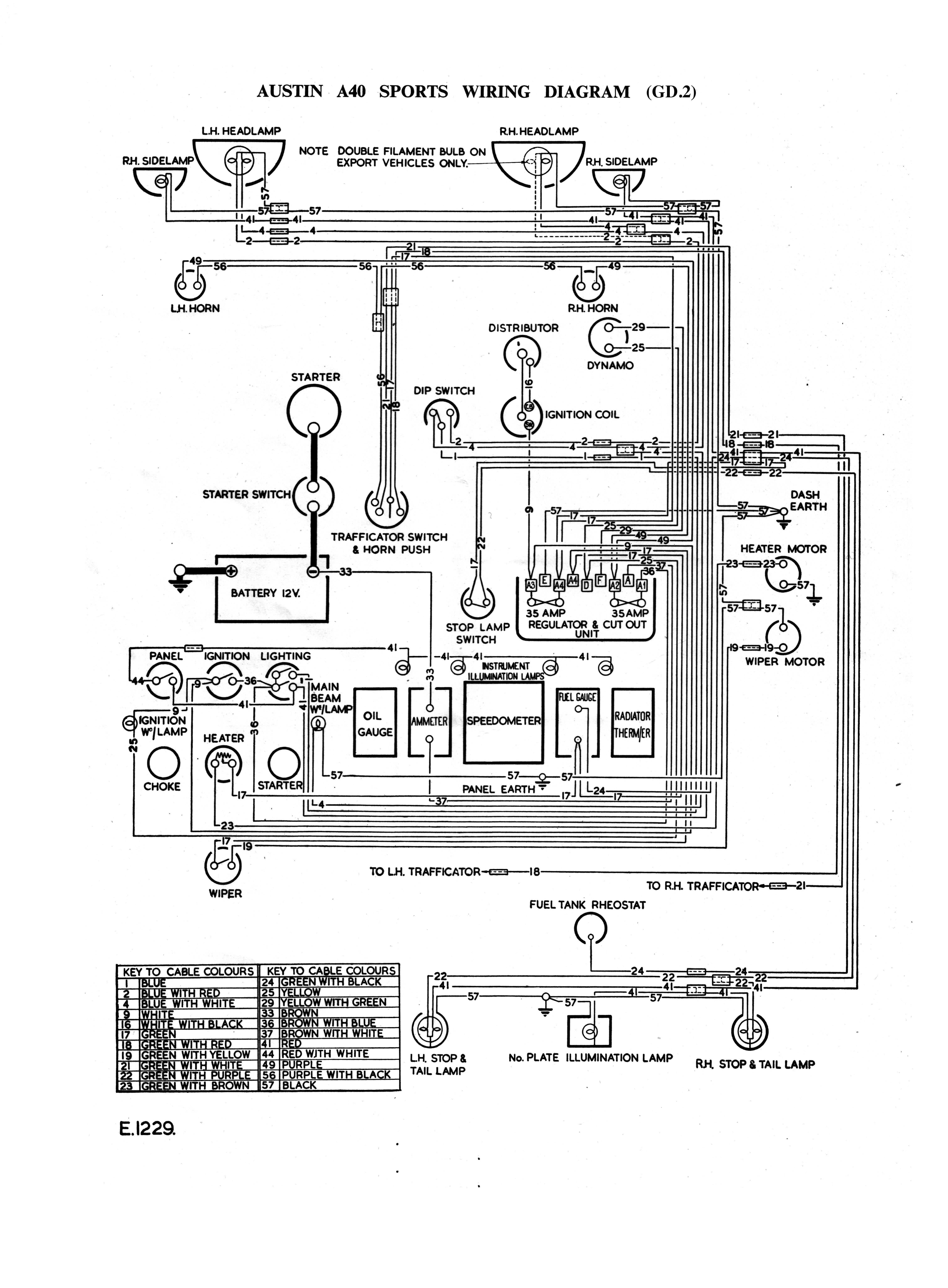 austin a40 sports gd2 wiring diagram [ 4558 x 6192 Pixel ]
