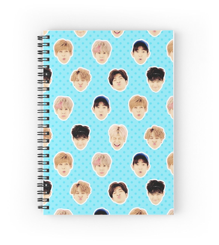 KPOP BTS 32 Sheets EXO,GOT7 Spiral Lined Notebook Note Pad
