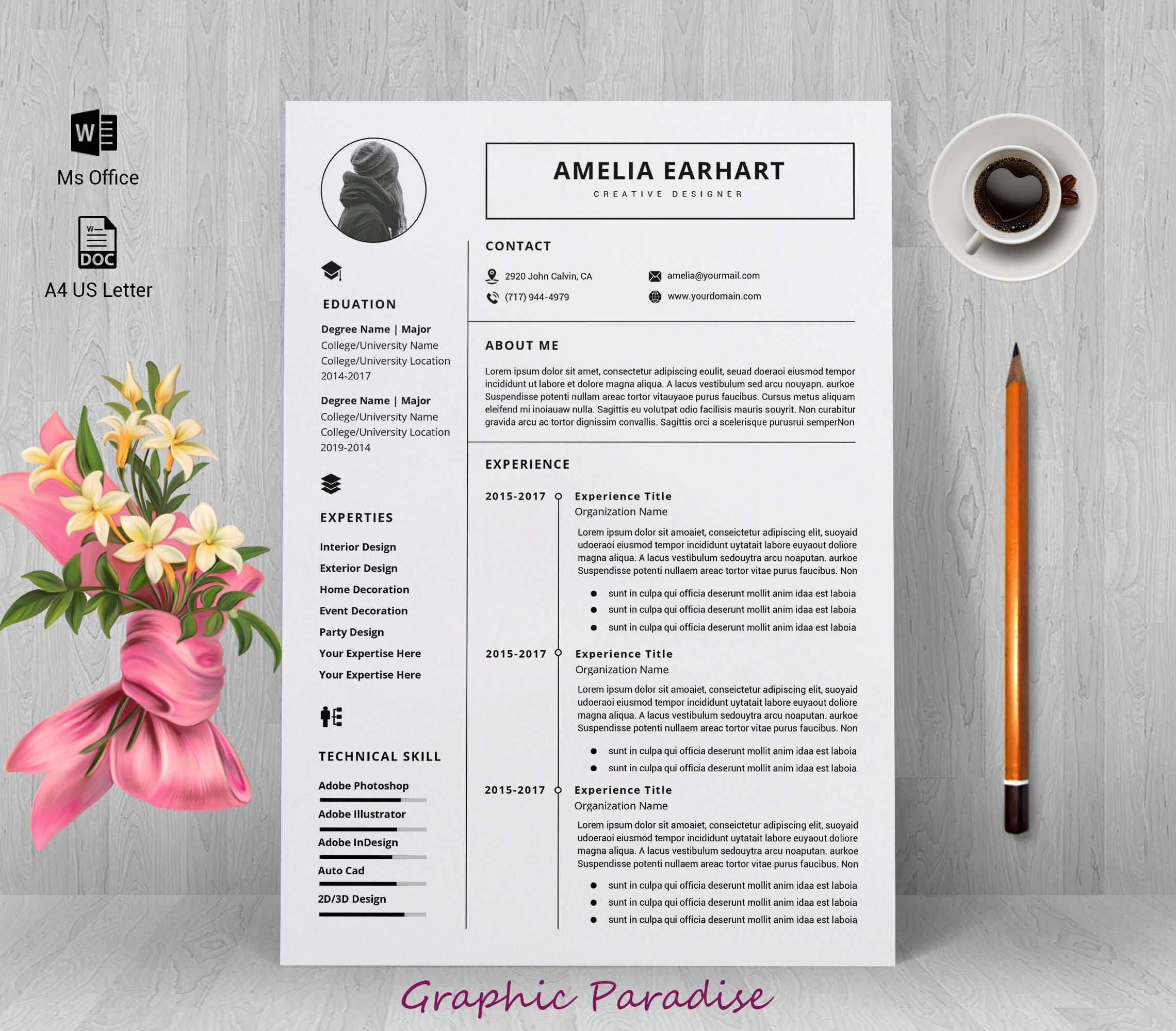 Professional Resume Template Resume Template Instant Download