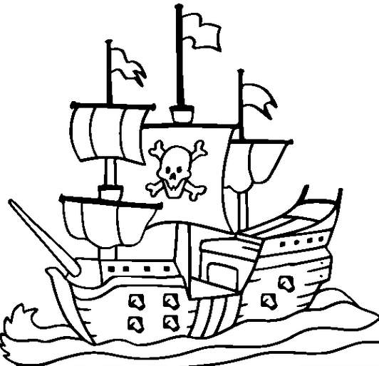 free coloring pages of pirate ship | pirate-ship-coloring-page | Daycare - coloring pages ...