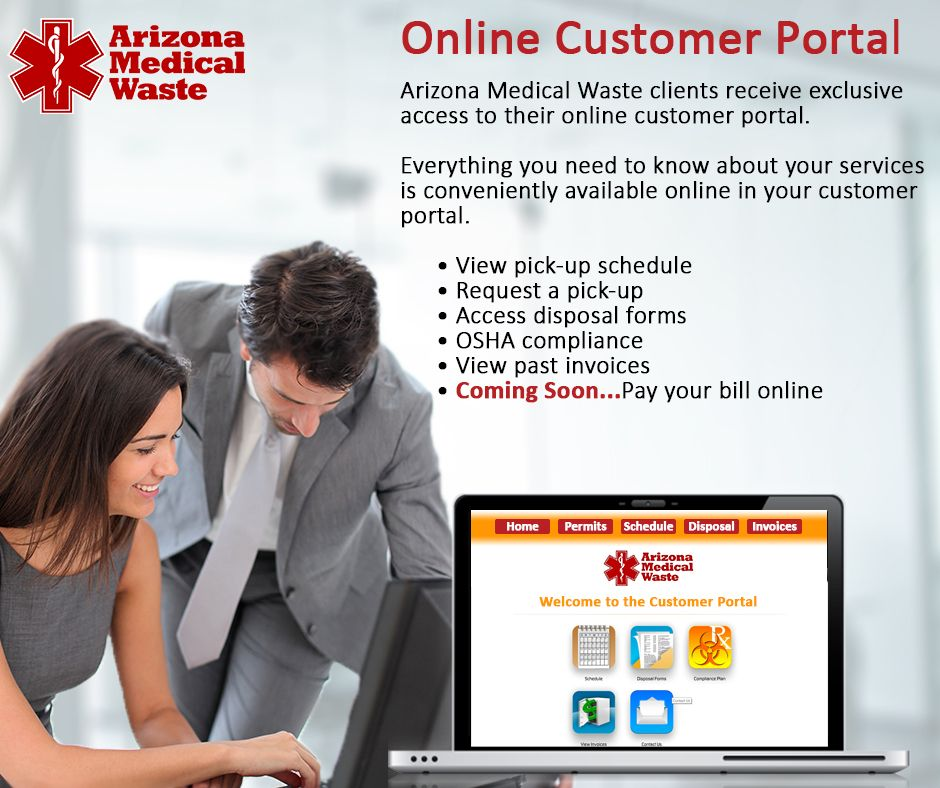 All Arizona Medical Waste clients receive exclusive access to their - check request forms