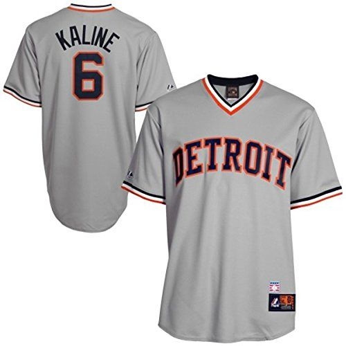 3587006e9 Al Kaline Detroit Tigers MLB MENS Grey Cooperstown Throwback Cool Base  Jersey – Detroit Sports Outlet