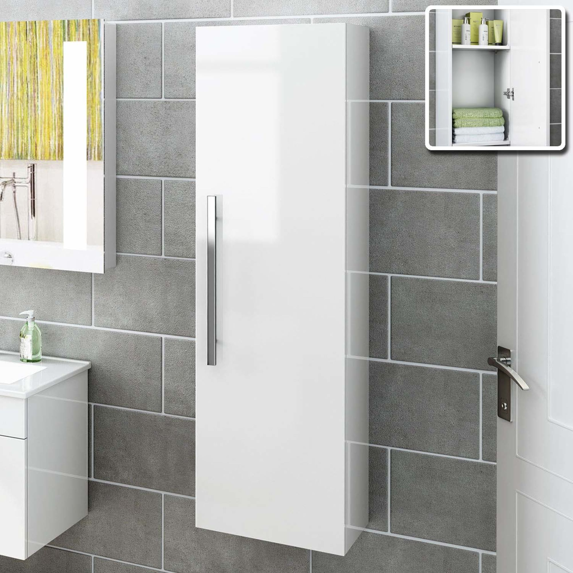 Wall Mounted Bathroom Cabinets By Ruth On Bathrooms Tall Cabinet Storage White Bathroom Furniture