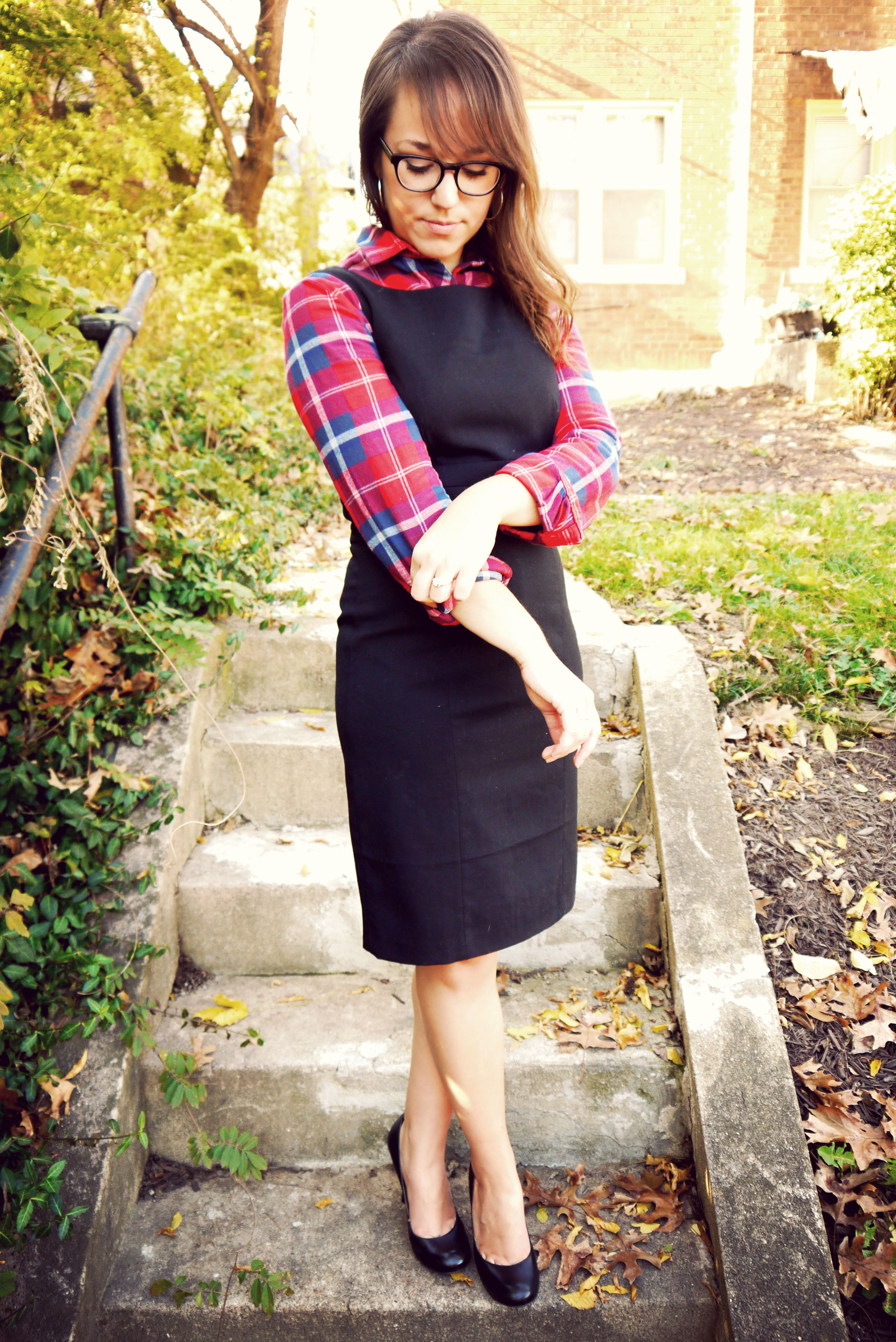 Flannel with shirt underneath  Flannel  Ways  Fit for the Office  Pinterest  Classic black