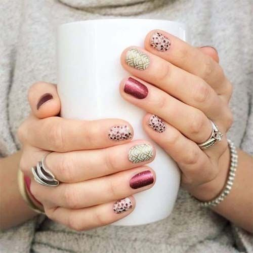 22 Easy Fall Nail Designs for Short Nails 2018 - 22 Easy Fall Nail Designs For Short Nails 2018 NAILS Hi Kimbe