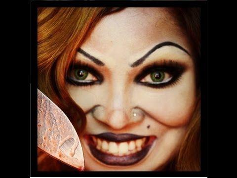 BRIDE OF CHUCKY -Halloween make up tutorial (full face) long vid ...