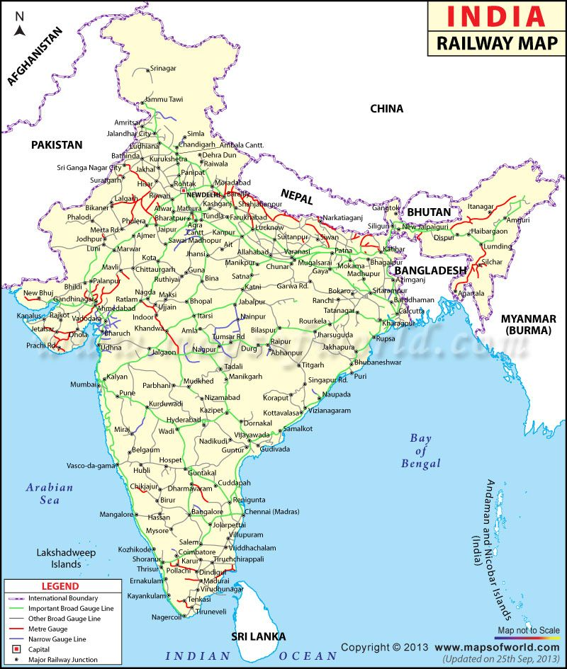 Indian Railway Map Maps Pinterest India India India And Sri - World map with country names in hindi