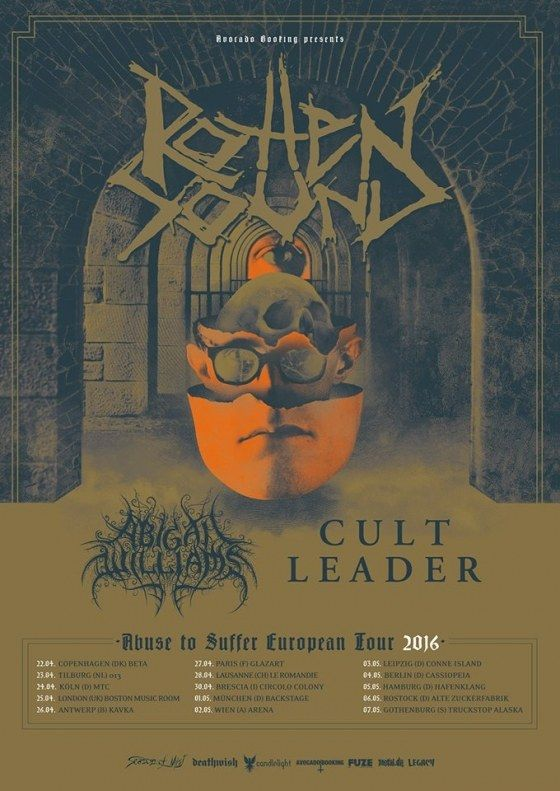 Rotten Sound # metal # grindcore # european tour 2016