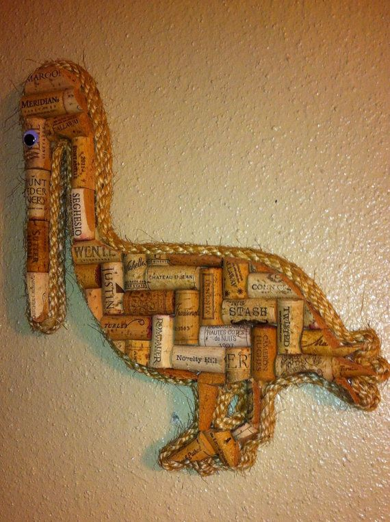 Pelican wall hanging made with real wine corks | Cork, Wine and Walls