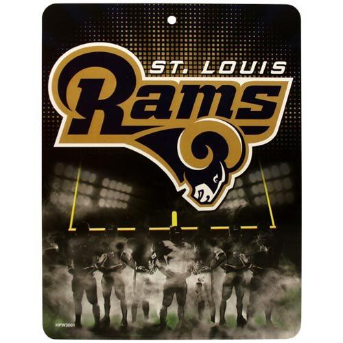 St Louis Rams Plastic Team Wall Sign