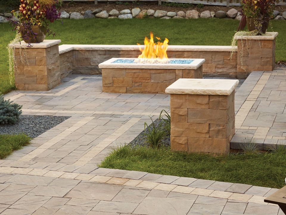 Add Seat Walls Around Your Fire Pit For An Easy And Appealing Way To Enjoy The Fire Fire Pit Landscaping Fire Pit Front Yard Landscaping