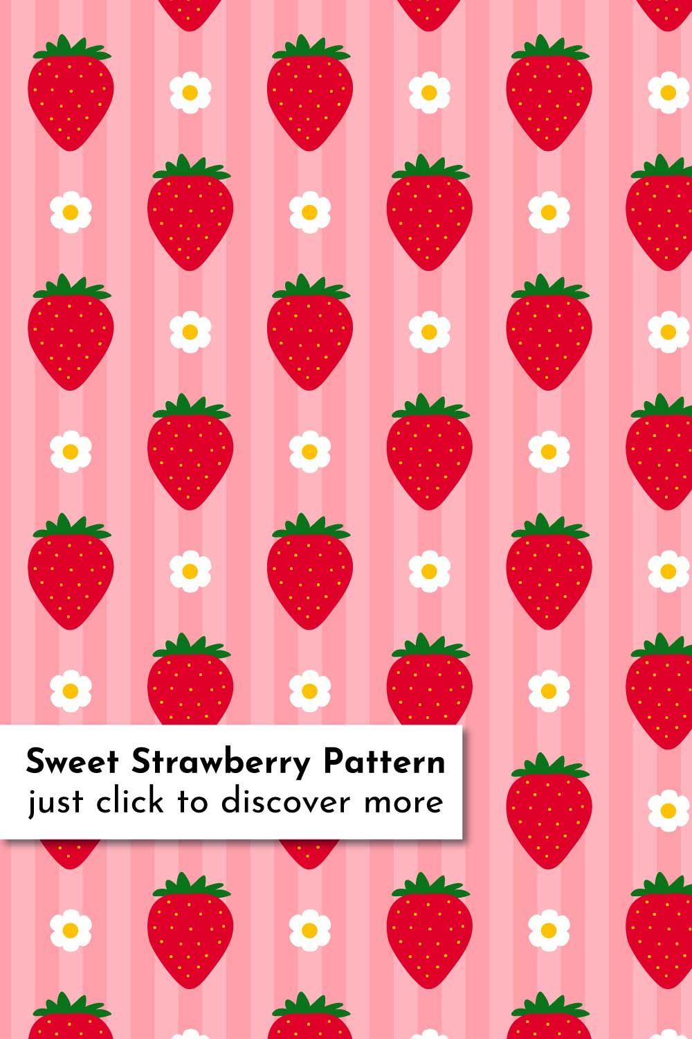 Strawberry Clipart Pattern Set 2020
