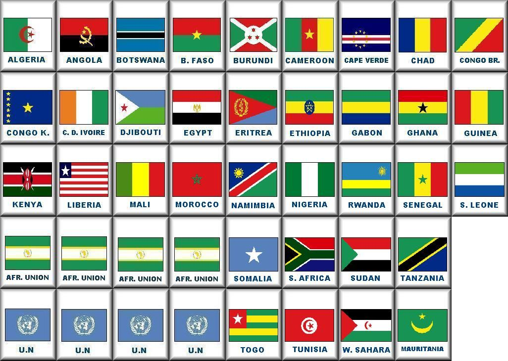 names of all the african countries WOWcom Image Results