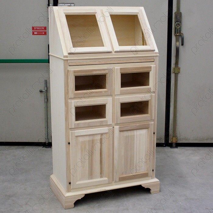 Dispensa Country in legno grezzo da verniciare | Kitchen | Pinterest ...