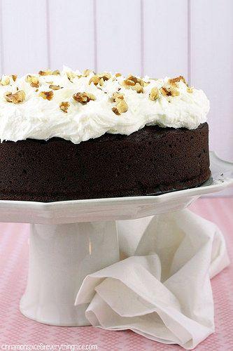 Chocolate Zucchini Cake With Sour Cream Frosting Recipe Chocolate Zucchini Cake Sour Cream Cake Cake